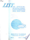List of International Conferences and Meetings
