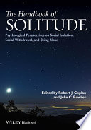 The Handbook Of Solitude Book PDF