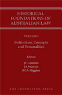 Historical Foundations of Australian Law