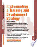 Implementing a Training and Development Strategy