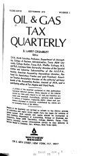 Oil & Gas Tax Quarterly
