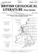 British Geological Literature, New Ser
