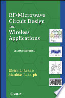Rf Microwave Circuit Design For Wireless Applications Book PDF