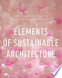 Elements of Sustainable Architecture Book