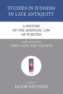 Pdf A History of the Mishnaic Law of Purities, Part 19