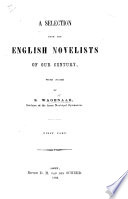 A Selection from the English Novelists of our century, with notes