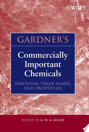 Download Gardner's Commercially Important Chemicals Free Books - Reading Best Books For Free 2018