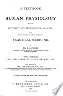 A Text-book of Human Physiology Including Histology and Microscopical Anatomy