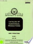 Catalog of audiovisual productions Book