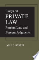 Essays on Private Law