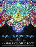 Master Mandalas Adult Coloring Book