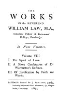The Works of the Reverend William Law  M A