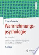 Wahrnehmungspsychologie  : Der Grundkurs