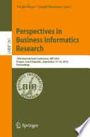 Perspectives in Business Informatics Research