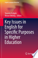 Key Issues In English For Specific Purposes In Higher Education Book