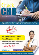Cho Community Health Officer Part 9 35 Paper Sets 3500 Questions Answers