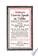 Dickson's How to Speak in Public