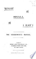 What Shall I Eat  Book
