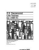 U S Decennial Life Tables For 1989 91 No 38