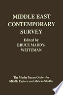 Middle East Contemporary Survey Vol 24 2000