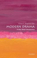 Modern Drama  A Very Short Introduction