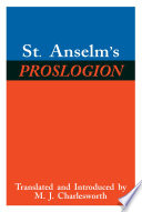 St  Anselm   s Proslogion