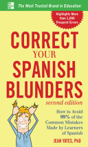 Pdf Correct Your Spanish Blunders, 2nd Edition Telecharger