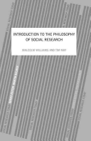 Introduction to the Philosophy of Social Research Book