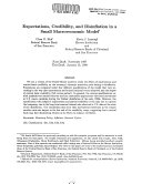 Expectations Credibility And Disinflation In A Small Macroeconomic Model Book PDF