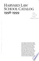 Harvard Law School Catalog