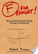 F for Effort Book PDF