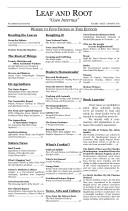 Leaf and Root Monthly, Volume 1 Issue 1