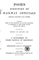 Poor S Directory Of Railway Officials And Manual Of American Street Railways Book PDF