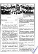 The Canadian Patent Office Record and Mechanics  Magazine