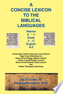 Concise Lexicon To The Biblical Languages Book PDF
