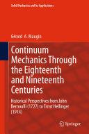 Pdf Continuum Mechanics Through the Eighteenth and Nineteenth Centuries