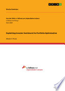 Exploiting Investor Sentiment for Portfolio Optimization Book