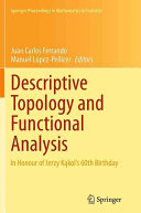 Descriptive Topology and Functional Analysis Book