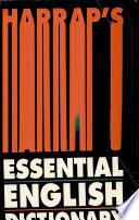 Harrap s essential English Dictionary Book