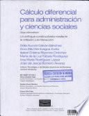 Calculo Diferencial Para la Administracion Y Ciencias Social