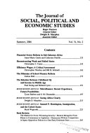 The Journal Of Social Political And Economic Studies