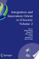 Integration And Innovation Orient To E Society Volume 2 Book PDF