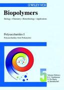 Biopolymers  Polysaccharides I  Polysaccharides from Prokaryotes