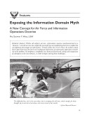 Exposing the Information Domain Myth  A New Concept for Air Force and Information Operations Doctrine  A Reprint from    Air and Space Power Journal