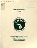 Annual Report Animal Health Diagnostic Laboratory