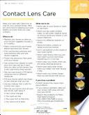 Contact Lens Care Book