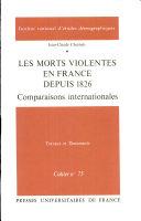 Les Morts violentes en France depuis 1826