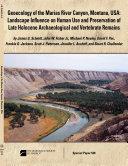 Geoecology of the Marias River Canyon, Montana, USA