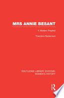 Mrs Annie Besant