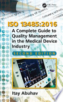 ISO 13485 2016 Book